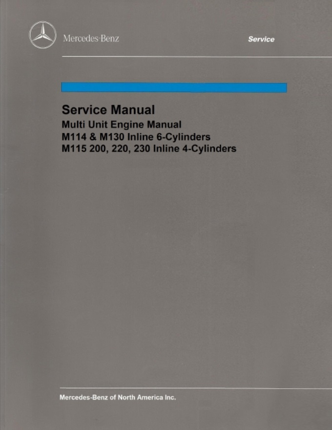 Mercedes Benz M114 Engine Service Repair Manual