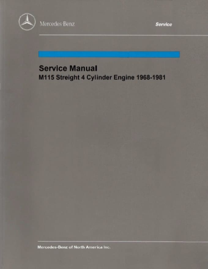 Mercedes Benz M115 Engine Service Repair Manual
